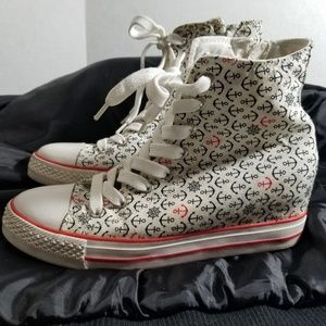 Nomad High Tops Nautical Anchor Design Womens 9.5